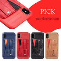 Wholesale wrist wallet case resale online - Card Slot Phone Case For iPhone XS Max XR X Wrist Strap PU Leather Stand TPU Cover For iPhone Plus Plus