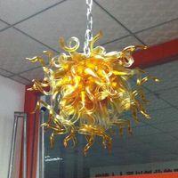 Wholesale artistic ceiling lights resale online - Cheap Hand Blown Glass Chandelier Lighting Murano Glass Chandelier Light Elegant Shape Glass Artistic Ceiling Light