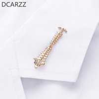 Wholesale human bones for sale - Group buy Spine Medical Pin Human Bones Brooch Metal Lapel with Crystals Collar Pins Christmas Gift for Doctor Nurse Jewelry