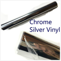 Wholesale body kits free for sale - Group buy 250mm x mm Chrome Silver Mirror Vinyl Potection Vinyl Wrap Air Bubble Free Sticker Decal Sheet Body Kit High Quality