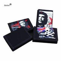 monederos de mezclilla al por mayor-Nuevo Vintage Wallet Men Denim Black Canvas Wallet Women / Men Best Gift 3 Fold Zipper Coin Bag Monedero de posición de múltiples tarjetas al por mayor # 160247