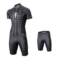 jerseys spiderman venda por atacado-Herói da série de ciclismo jersey set bicicleta spiderman dos homens de manga curta sportwear confortável bicicleta clothing jerseys tamanho s-xxxl