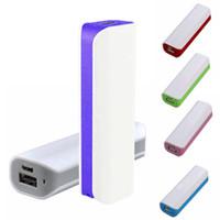 iphone kablo paketleri toptan satış-2000 Mah Mini Taşınabilir Güç Bankası Yedek Pil USB Evrensel Şarj Perakende Paketi ile + Cep Telefonu için Kablo