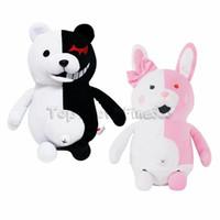 anime toy bear toptan satış-Monokuma peluş oyuncak Danganronpa: Tetik Mutlu Havoc Monokuma Peluş Bebek Oyuncak Teddy bear Doldurulmuş Hayvanlar Toptan doll