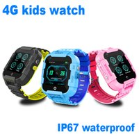Wholesale video camera wrist watch resale online - DF39 Kids Smart Watch GPS Tracker Support G SIM IP67 Waterproof SOS Call Video Chat Android mAh Battery Long time standby