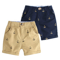Wholesale korean style casual clothing for sale - Retail boys shorts Korean summer full anchor printed cotton Cargo Pants short pants Children designer basketball casual sports short clothes