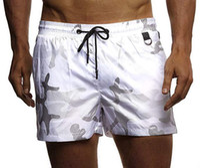 mann badebekleidung beachwear großhandel-Sommer Männer Sexy Bademode Badeanzug Casual Shorts Strandhose Schwarz Grün Beachwear Bademode Plus Size M-3XL