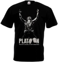 Wholesale free movie posters resale online - PLATOON Movie Poster T shirt black all sizes Funny Unisex Casual