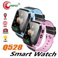lb de iluminação venda por atacado-Q528 smart watch para crianças smart pulseira lbs tracker sos com luz anti pulseira perdida com câmera sim card para ios android em caixa