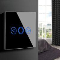 berührung led dimmer großhandel-EU / UK Standard LED Licht Touch Schalter 220 V Touch Sensor Dimmer Wand Power Touchscreen Panel Lampe Lichtschalter Glas Bedienfeld