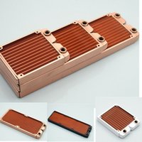 Wholesale free radiators resale online - Black White Water Cooled Radiator Oxygen Free Copper Heat Exchanger Water Cooling Radiator