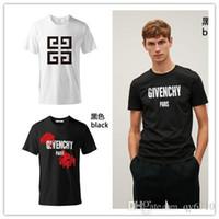 frauen pullover shirts großhandel-Großhandel Giv Designer Hochwertige Druck Enchy T-Shirts für Männer Kurzarm Baumwolle Mann Pullover T-Shirts atmungsaktiv T-Shirt Kleidung
