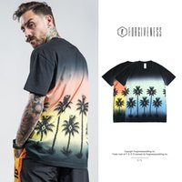 Wholesale coconut t for sale - Pop2019 Fgss Wear Tie dyed Men s Coconut Tree Printing Cool Time Man Short Sleeve T Pity