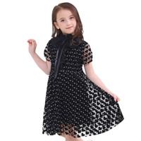 летняя одежда для подростков оптовых-Дети элегантное платье для девочек костюмы подростка летние платья партии подростковой одежды дети повседневные платья для детей 6-16 лет J190425