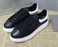 ingrosso migliori scarpe casual in pelle-La migliore sneaker oversize di design di alta qualità per uomo donna vera pelle originale scatola scarpe di design moda sneaker casual bianco e nero