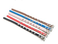 Wholesale free spiked dog collar for sale - Group buy 300pcs Fashion Pu Leather Nail Rivet Studded Round Spikes and Small Dog Pet Collar Pitbull Bulldog Necklace