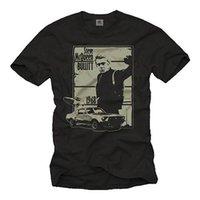 chemises à imprimé musculaire achat en gros de-Chemise Herren US Muscle Car avec Kult Mustang, 1967 - Männer MC Bullit Queen Shirt.