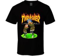 ingrosso camicia dei fidanzati-Maglietta da uomo estiva t-shirt da uomo T-shirt Rickter and Mortyern Graphic Tees Regalo fidanzato verde militare alta qualità