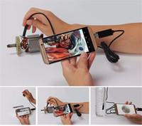 éclairage caméra pc achat en gros de-5M 7.0MM Lens Car 2 dans 1 caméra d'inspection USB 6 Pcs Réglable LED S'allume Imperméable À L'eau