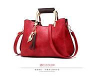 Wholesale clutch wallet lady purse handbag for sale - 2019 New hot Famous brand women handbags L flower luxury designer composite bags lady clutch shoulder tote female purse with wallet XB