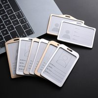 Wholesale aluminum metal cards case for sale - Group buy 1pc Aluminum Alloy Work Name Card Holdersbusiness Work Card Id Badge Lanyard Holder Hot Vertical Metal Id Business Case
