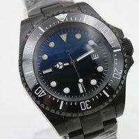 Wholesale auto rings for sale - Group buy Outdoor MM Blue and Black Dial Stainless Steel Bracklet Automatic Mens Watch Watches With Unidirectional Ceramic Top Ring Bezel