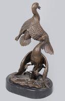 Wholesale brass animal sculptures for sale - Group buy Copper decoration Fine Buddha Brass Mandarin Duck Yard decoration Art of bronze Sculpture Statue Figurines of Animals