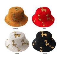 Wholesale baby wide brim hat for sale - Group buy Baby Fisherman Cap Bucket Hat Wide Brim Daily Toddler Cute Giraffe Sun Hat