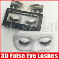 ingrosso estensione del ciglio della curlca nera-3D cigli falsi Handmade naturale lungo Curl Spesso Falsa Eye Lash estensioni colore nero ciglia