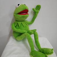 nano puppen großhandel-Freie Karikatur des Verschiffen-45cm der Muppets Kermit-Frosch-Plüsch spielt weiche Jungen-Puppe für Kindergeburtstagsgeschenk Q190521