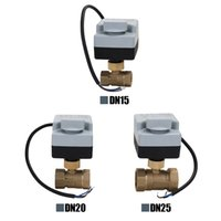 Wholesale valves manual for sale - Group buy AC220V Ways Wires Brass Motorized Ball Valve Electric Actuato With Manual Switch Energy saving Actuator Motor
