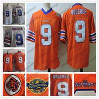 Men s The Waterboy Movie  9 Bobby Boucher Orange White Jersey S-3XL  Stitched 1948 - 1998 Bourbon Bowl 50th The Film Football Adam Sandler 6c9fe7e76