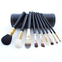 бесплатная подарочная сумка для макияжа оптовых-Дропшиппинг высокое качество бренда м макияж кисти 9 штук наборы профессиональный макияж кисти комплект + бесплатная макияж сумка подарок