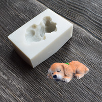Wholesale cookies dogs resale online - Lovely Dog Liquid Molds Silicone Diy Eco Friendly Mold Baked Decorate Tool Mould White Color With High Quality sq J1