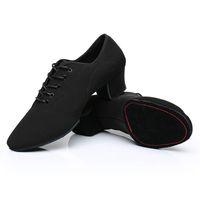 ayakkabı latin toptan satış-Erkekler Latin Dans Ayakkabıları Yetişkin Iki Nokta Tabanı Ayakkabı Olmayan Deri Rahat Yumuşak Taban Dans Erkek Oxford Bez Topuk 5 cm