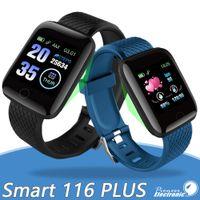 rastreadores de actividad para fitness al por mayor-116 reloj inteligente Plus pulseras rastreador de ejercicios de ritmo cardíaco del contador de paso Activity Monitor Banda Muñequera PK 115 PLUS M3 para Android