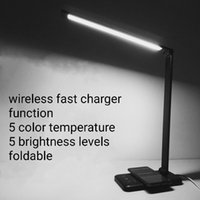 Wholesale led charger touch resale online - Wireless Fast Charger function s LED Desk Lamp USB Reading table foldable Color Temperatures and Brightness Levels
