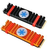 ssd pcie toptan satış-Alüminyum Alaşım PCIe NVMe M.2 2280 SSD Soğutucu Laptop Bellek Soğutma Fin
