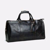 grandes sacos de bagagem de couro venda por atacado-2019 homens duffle bag mulheres sacos de viagem bagagem de mão designer de luxo bolsa de viagem homens pu bolsas de couro grande corpo cruz saco totes 55 cm