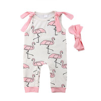 Wholesale girls outfits lovely clothing for sale - Lovely Newborn Baby Girl Floral Sets Sleeveless Flowers Print Romper Bow Headband Outfits Summer Milk Silk Clothes M