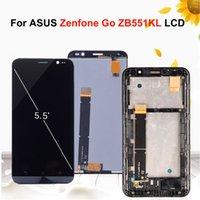 asus çerçeve toptan satış-5.5 '' ASUS Zenfone Git TV Için Orijinal Ekran ZB551KL X013DB Çerçeve ile LCD Ekran Dokunmatik ekran Digitizer Meclisi Değiştirme