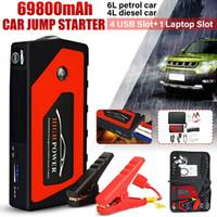 calidad de la batería del coche al por mayor-Alta calidad 69800 mAh 12 V Car Jump Starter USB portátil Banco de energía Batería Booster Clamp 600A Cargador de batería de energía del teléfono móvil portátil Powe