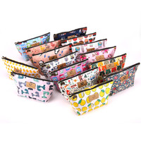 Wholesale penguin types for sale - Group buy Cartoon Cosmetic Bag Unicorn Penguin Prints Oxford Cloth Toiletry Pouch Portable Coin Organizer With Zipper High Quality dd E1