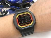 cuadrantes de reloj redondo al por mayor-G-5600 Hombres Mujeres Relojes de Marca de Lujo Reloj Mujer Moda Casual Cuarzo Dial Reloj de Cuero Reloj de pulsera Caja Redonda Relogio Feminino