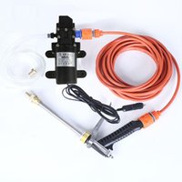 Wholesale spray 12v for sale - Group buy 1pc V W High Pressure Electric Car Washer Water Pump Portable Spray Cleaner Hose Car Water Sprayer Styling