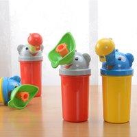 Wholesale potty training resale online - Eco Friendly Unisex Portable Cartoon Kid Children Urinal Car Travel Bucket Toilet Potty Training Pee Camping Urine bottles