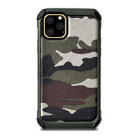Wholesale military wallets for sale - Group buy For iPhone Pro Max mobile phone case leather military camouflage color iPhone protection case