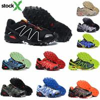 ingrosso scarpe da corsa in camo-2020 Utility Solomon Speed Cross 3 3s Sneakers Camo verde Triple S Black Racer Blu Grigio III CS Trail Run Walking Shoes Trainer With X