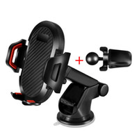 Wholesale stand cup holders resale online - 360 Rotatable Car Windscreen Suction Cup Window Mount Phone Holder Bracket Stand