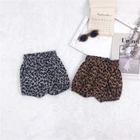 neue design mädchen hose groihandel-IN-Sommer-neuen Kids'shorts koreanischen Leopard-print Bäckerei Hosen für Babys Kinderbekleidung Leopard Design Kids Mädchen Bloomer